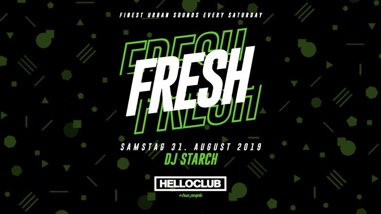 SAMSTAG 31.08.2019 - FRESH