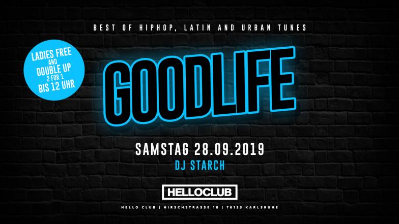 SAMSTAG 28.09.2019 - GOODLIFE